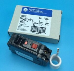 New Circuit Breaker Ge Thql1130gft 30 Amp 1 Pole 120v Self Test Gfci Thql1130gf