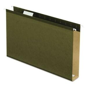 Esselte 5143x2 Extra Capacity Reinforced Hanging File Folders With Box Bottom