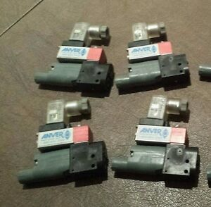 Lot Of 4 Anver Vacuum Valves For Suction Cup Automation 24 Vdc New