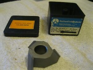 Delta rockwell Shaper Cutter Carbide Tipped 3 4 Bore 43 977 Nos