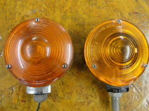 Lot Of 2 Vintage Signal Stat Dominion Amber Turn Signals Lights