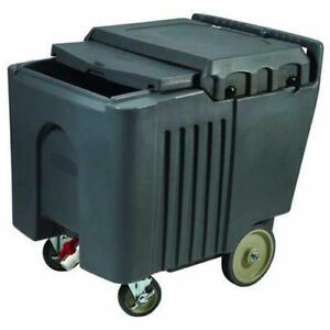 Portable Ice Bin Insulated Ice Caddy With Sliding Cover