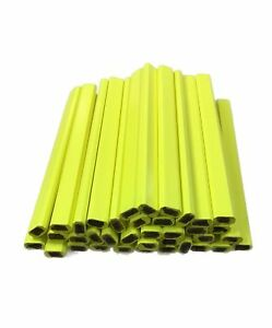 Flat Wooden Neon Yellow Carpenter Pencils 72 Count Bulk Box Made In The New