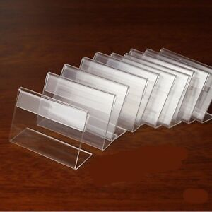 Mini Sign Display Holder Price Card Tag Label Counter Top Stand Case 7cm New