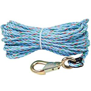 Klein 1803 60 Polypropylene Hand line Rope With Snap Hook 5 16 X 75 Ft no 443a