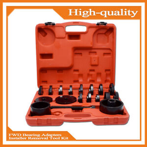 23pcs Front Wheel Drive Bearing Adapters Puller Press Replaces Removal Tool Kit