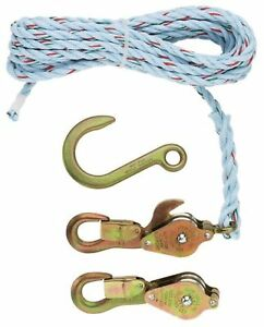 Klein Tools 1802 30ssr Block And Tackle 259 Anchor Hook Spliced New