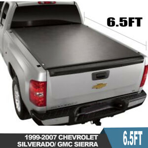 Fit 99 06 Chevy Silverado Gmc Sierra 6 5ft Bed Soft Tri Fold Tonneau Cover