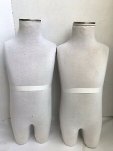 Lot Of 2 Child Kid Cloth Covered Mannequin Torso Store Display 23 Retail