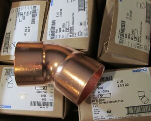10 pack New Nibco 606 45 Degree Wrot Copper Elbows 2 1 2 2 5 8 Od