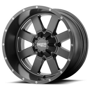20 Inch Grey Wheels Rims Lifted Ford F250 Truck Superduty Moto Metal Mo962 20x10