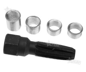 New Helicoil Thread Insert Reamer Tap Repair Kit 14mm Spark Plug With 4 Inserts