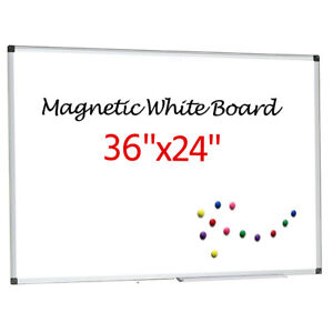 36 x24 Dry Erase Easel Board Magnetic Whiteboard Single Side Home Office School