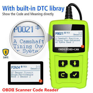 2 4 Lcd Obdii Scanner Car Trouble Code Reader Diagnostic Engine Fault Scan Tool