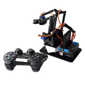 Diy 4 dof Ps2 Remote Control Tank Robot Mechanical Arm For Arduino Learning