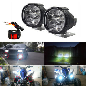 2pcs Motorcycle Headlight Spot Fog Lights Head Lamp 6 Led Front 12v Driving Usa