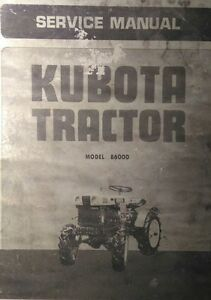 Kubota B6000 Diesel 4x4 Farm Tractor Service Repair Dealer Manual 54pg Overhaul