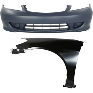 Bumper Cover Kit For 2004 2005 Honda Civic Front 2pc