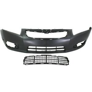 Bumper Cover Kit For 2011 2014 Chevrolet Cruze Front 2pc With Bumper Grille