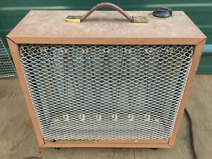 Supermatic Electric Space Heater Vintage Fan Blower Milk House