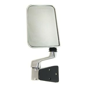 Mirror For 1987 1995 Jeep Wrangler Yj Driver Side Manual Folding Chrome