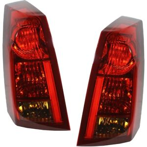 Set Of 2 Tail Light For 2003 2004 Cadillac Cts Lh Rh W Bulb S