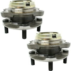 Pair 2 New Front Wheel Hub Bearing Lh And Rh For G35 G37x Ex35 M35 Awd Abs