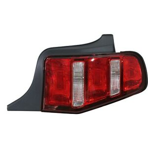 Halogen Tail Light For 2010 2012 Ford Mustang Right Clear Red Lens Capa