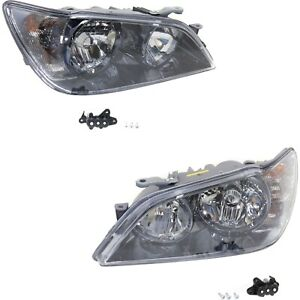 Headlight Set For 2003 2004 Lexus Is300 Left And Right Hid With Bulb 2pc