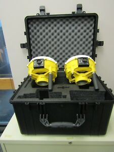 Trimble Set Of Ms992 Receivers With Rtk Glonass Refurbised W new Carry Case