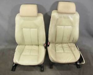 1999 2001 Bmw E38 7 series Front Active Comfort Seats Pearl Beige Leather Heat