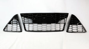 Honeycomb Mesh Front Bumper Lower 3pc Grills For Ford Focus S Se 2012 2014