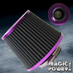 Universal 3 Inch 76mm Jdm Short Ram Turbo Cold Air Flow Intake Filter Purple