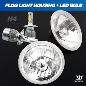7 120w Cree Led Headlights Sealed Beam Clear High low Beam High Power Headlamp