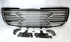 Front Upper Chrome Big Horn Style Grill Shell For Dodge Ram 1500 2009 2012