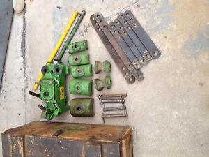 Greenlee Hydraulic Pipe Tubing Bender No 770 W Shoe Set