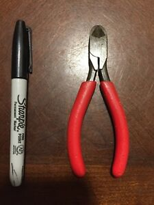 Snap On Tools Usa 85bcp Mini Diagonal Pliers Red Cutter Dykes Wire Snips 5 Inch