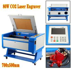 80w Co2 Laser Cutter 500x700mm Engraver Cutting Machine Usb Port W Rotary Axis