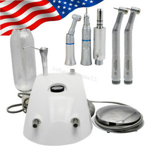 Usa Dental Turbine Unit Work W Air Compressor 2 Hole High Low Speed Handpiece