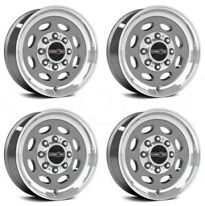 19 5x7 5 Vision Hd 81 Hauler Single 8x180 25 Gunmetal Wheels Rims Set 4