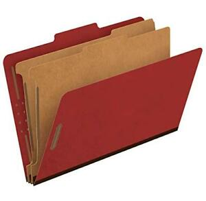 Pendaflex Recycled Classification File Folders 2 Dividers 2 Embedded Fastener
