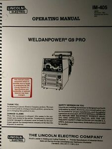 Lincoln Weldanpower G9 Pro 250 Welder Onan Engine Operating Manuals 2 Books