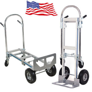Platform Hand Sack Trolley Truck Cart Barrow Carriage 770lbs 51inch Portable