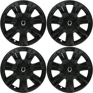 4 Black 2010 2016 Cadillac Srx 18 Full Wheel Skins Hub Caps Center Rim Covers