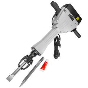Electric Demolition Concrete Jack Hammer With Chisel Case 2200 Watt 75j Force