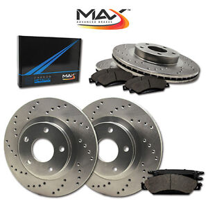 1998 1999 Ford Contour Svt See Desc Cross Drilled Rotors W Metallic Pads F R