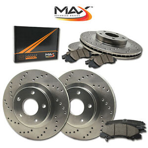 1998 1999 Ford Contour Svt See Desc Cross Drilled Rotors W Ceramic Pads F R