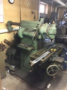 Antique Brown Sharpe Milling Machine No 1h Massive Belt Driven
