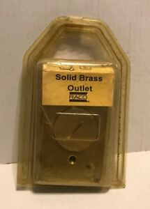 Vintage Raco Solid Brass Outlet And Cover Nib 5236