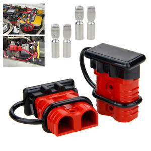 2x 175a Battery Quick Connect Disconnect Plug Recovery Winch Trailer 0 4 Gauge